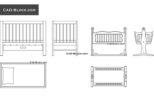 Baby Cradle - download free CAD Block