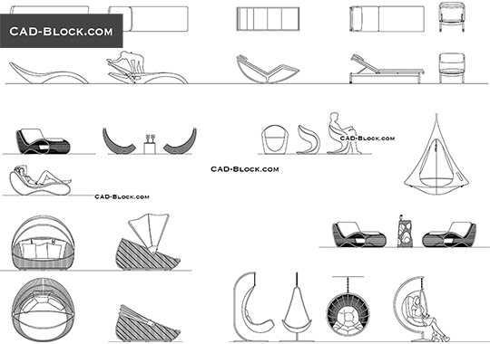 Patio Furniture - download free CAD Block