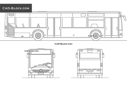 Bus Mercedes-Benz Citaro - download free CAD Block