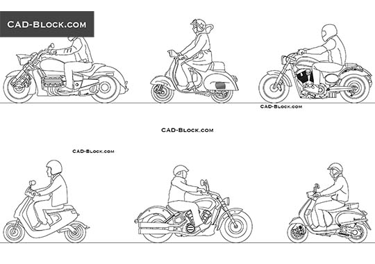 Biker - download free CAD Block