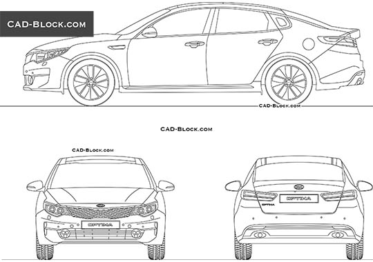 Kia Optima (2017) - download free CAD Block