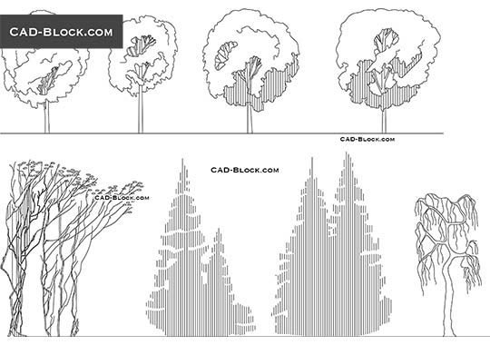 Sketching Trees - download free CAD Block