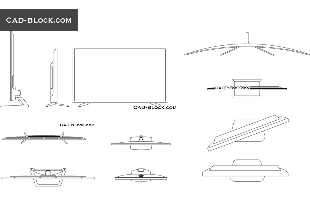 TV Set free 2D CAD models for download, CAD blocks in AutoCAD