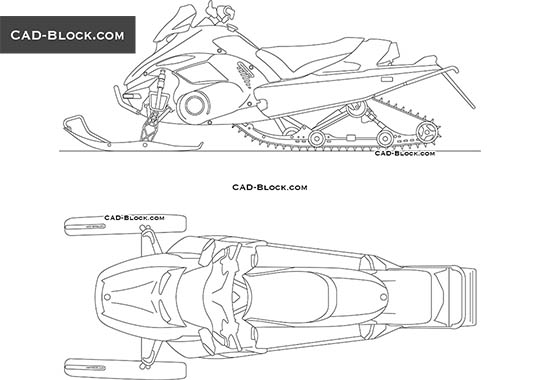 Snowmobile - free CAD file