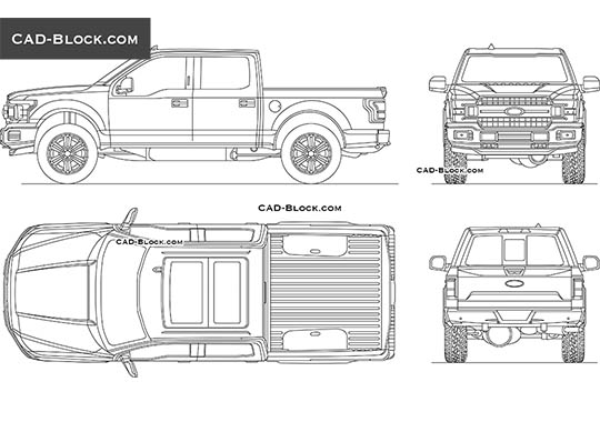 Ford F-150 XLT buy AutoCAD Blocks