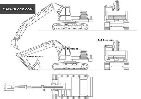 Excavator - download free CAD Block