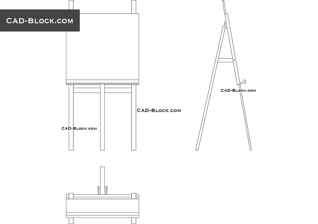 Easel - CAD Blocks, AutoCAD file