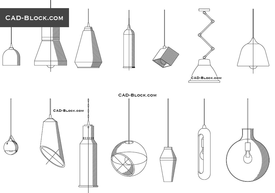 Pendant Light Autocad Blocks Download Cad File