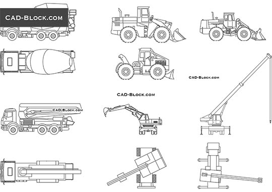 Construction Vehicles - free CAD file