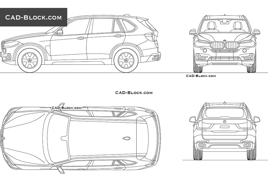 BMW X5 (2018) - CAD Blocks, AutoCAD file