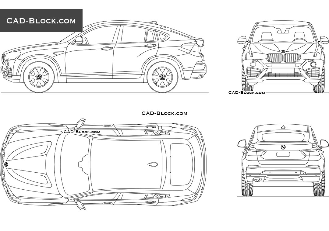 BMW X4 - CAD Blocks, AutoCAD file