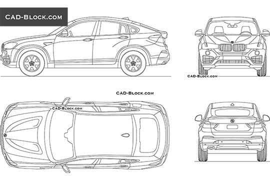 BMW X4 buy AutoCAD Blocks