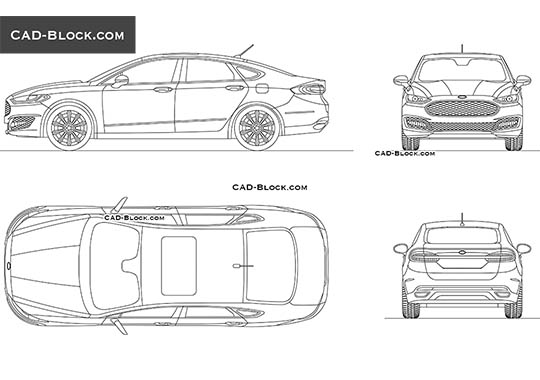 Ford Mondeo buy AutoCAD Blocks