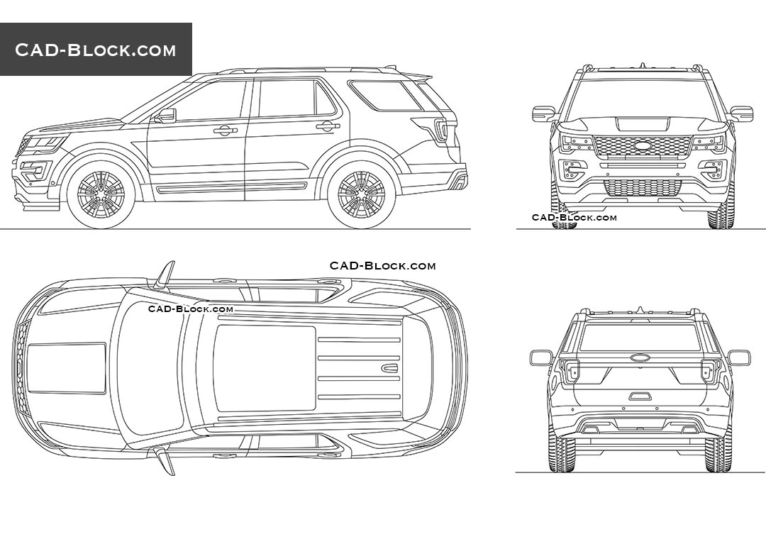 ford explorer cad block download  car autocad drawings