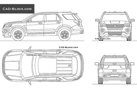 Ford Explorer buy AutoCAD Blocks