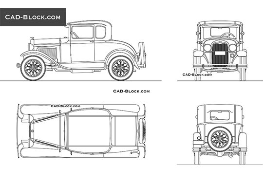 Ford A - download free CAD Block