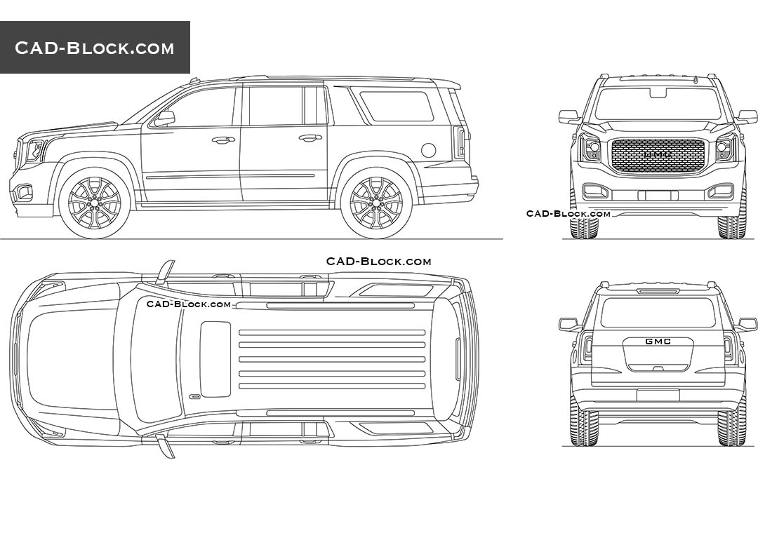 GMC Yukon XL Denali - CAD Blocks, AutoCAD file