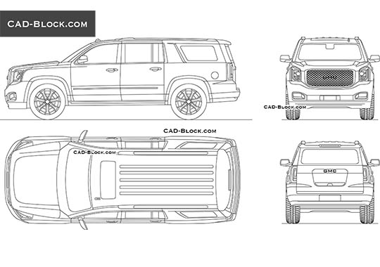 GMC Yukon XL Denali buy AutoCAD Blocks