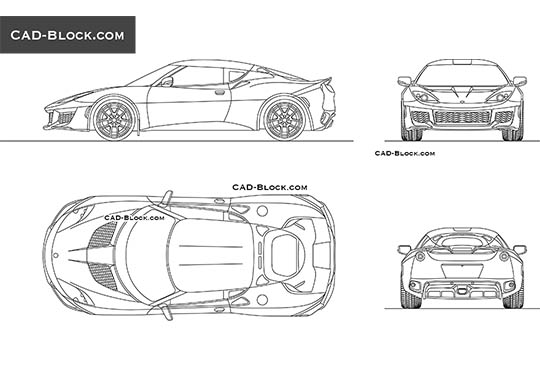 Lotus Evora 400 buy AutoCAD Blocks