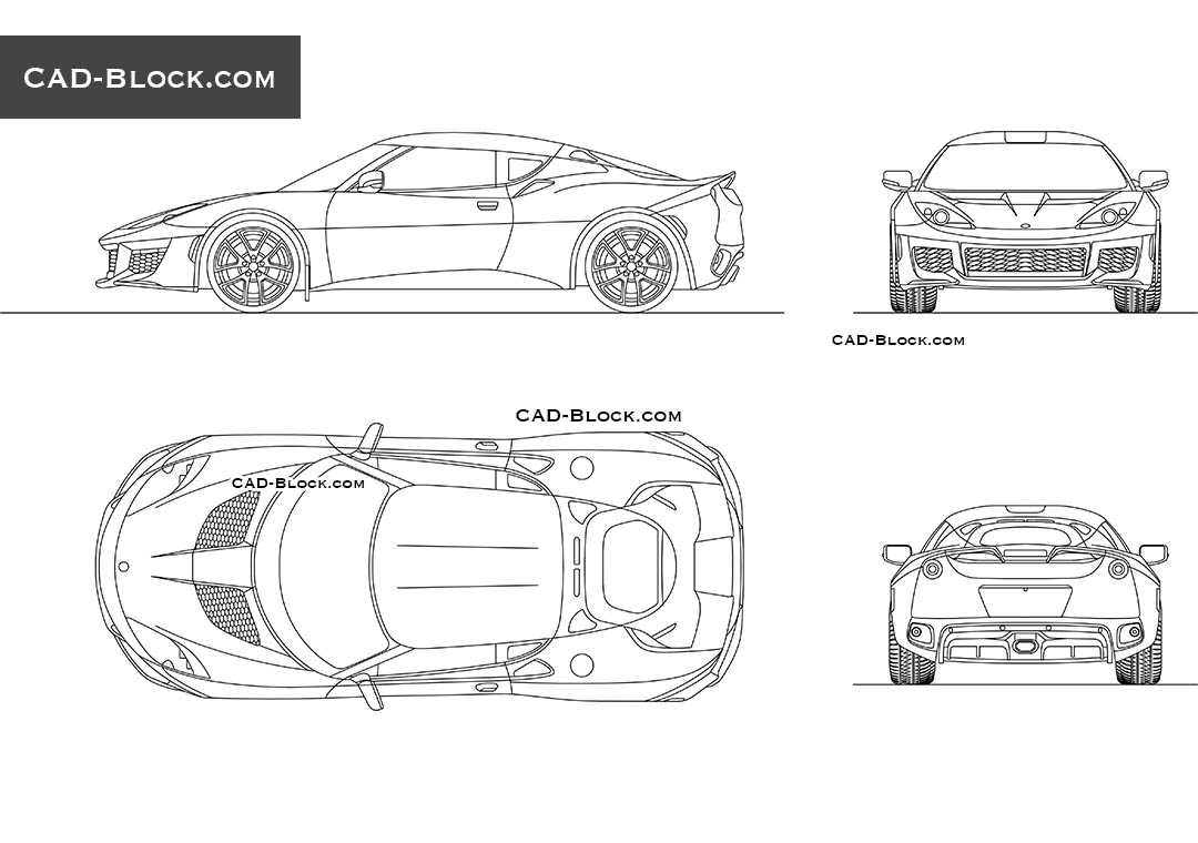 Lotus Evora 400 - CAD Blocks, AutoCAD file