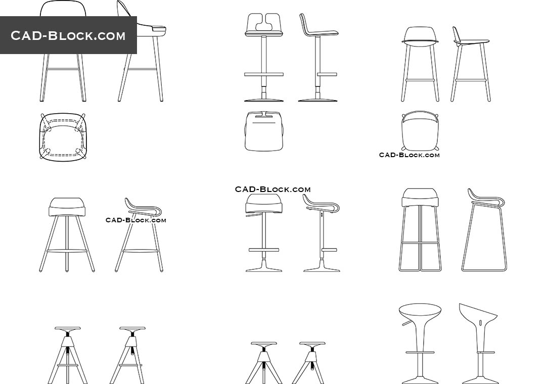 Bar Stool - CAD Blocks, AutoCAD file