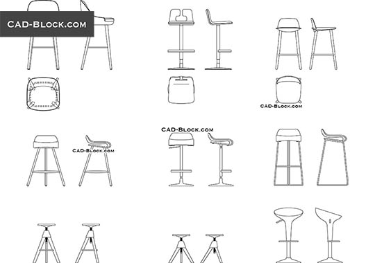 Bar Stool buy AutoCAD Blocks