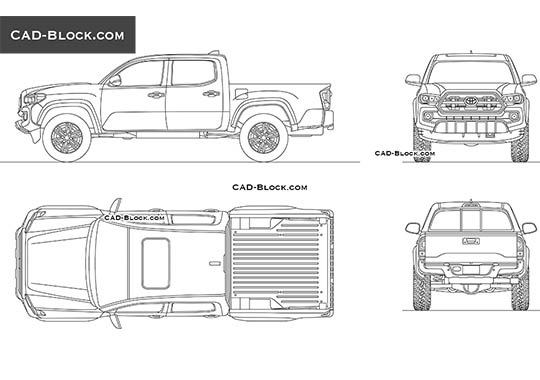 Toyota Tacoma - download free CAD Block