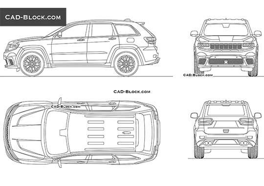 Jeep Grand Cherokee buy AutoCAD Blocks