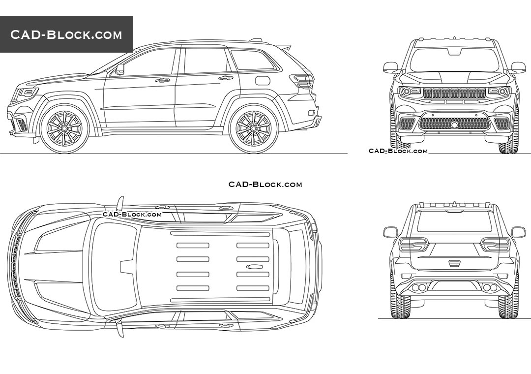 Jeep Grand Cherokee - CAD Blocks, AutoCAD file