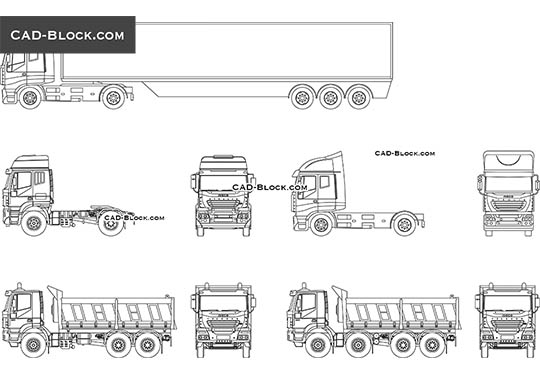 Truck Elevation - download free CAD Block