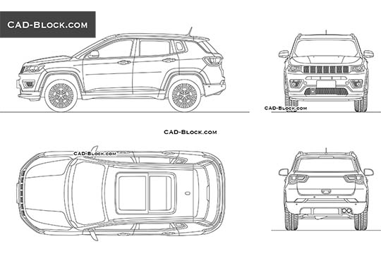 Jeep Compass (2017) - download free CAD Block