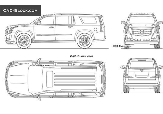 Cadillac Escalade buy AutoCAD Blocks