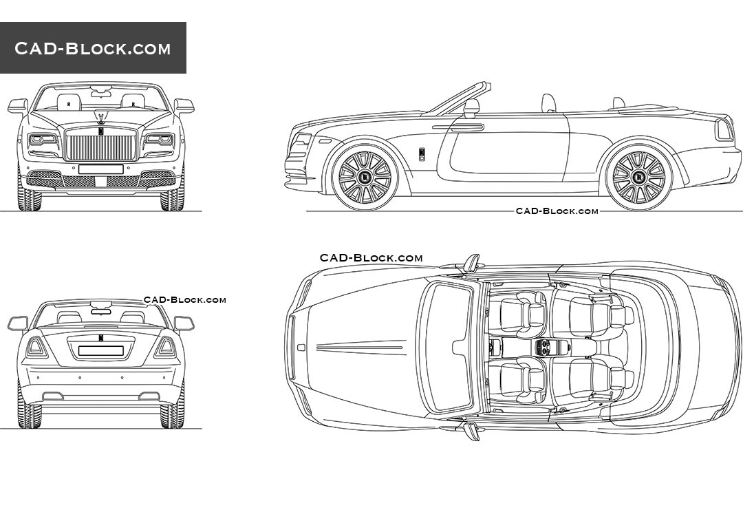 Rolls-Royce Dawn - CAD Blocks, AutoCAD file