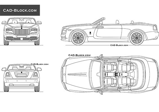 Rolls-Royce Dawn buy AutoCAD Blocks