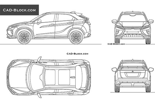 Mitsubishi Eclipse Cross - free CAD file
