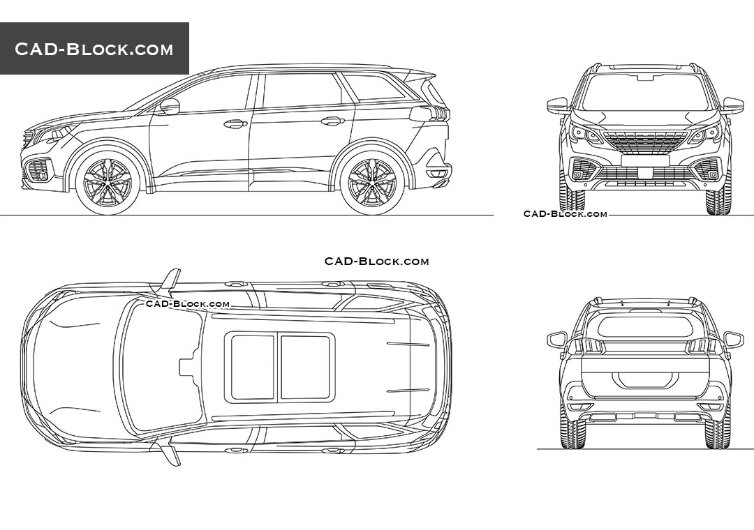 Peugeot 5008 - CAD Blocks, AutoCAD file