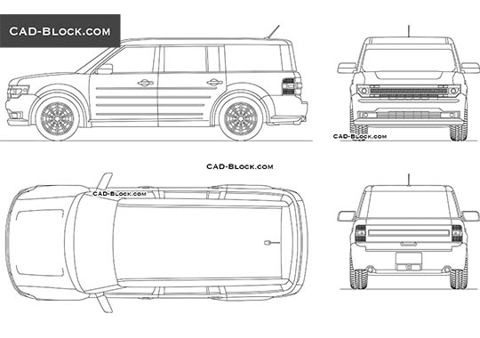 Ford Flex buy AutoCAD Blocks