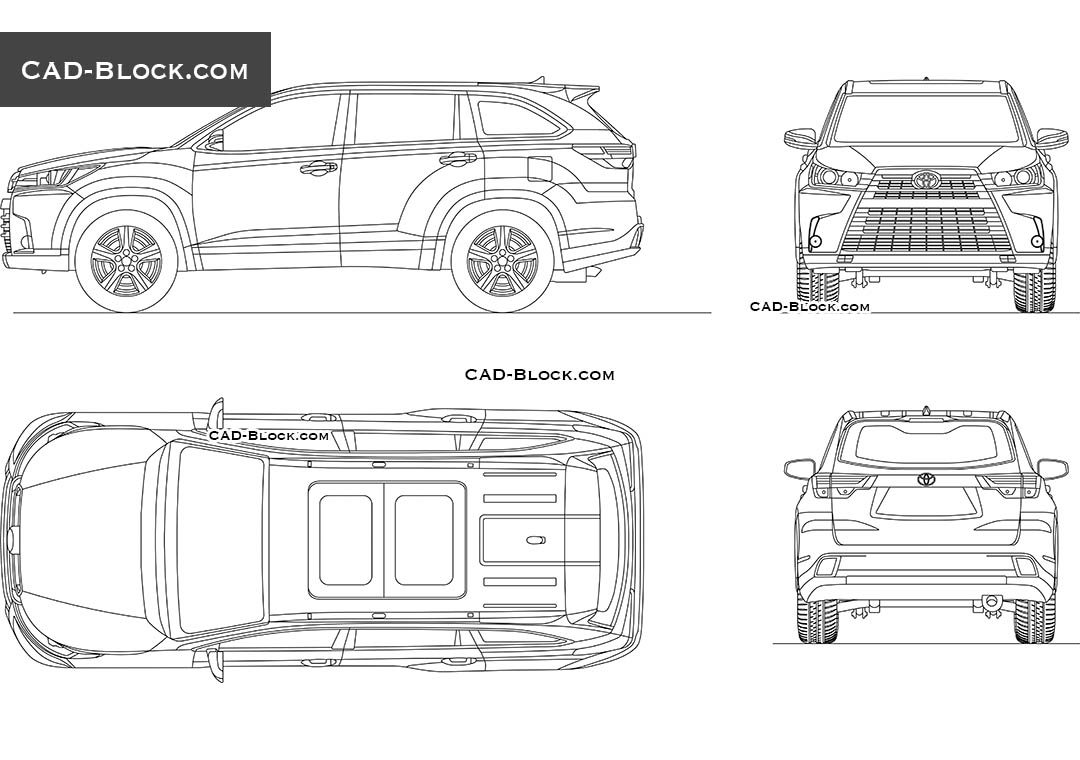 Toyota Highlander - CAD Blocks, AutoCAD file