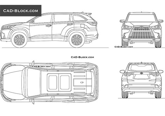 Toyota Highlander buy AutoCAD Blocks