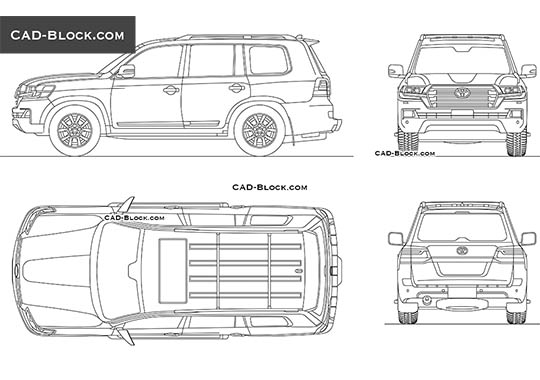 Toyota Land Cruiser 200 buy AutoCAD Blocks