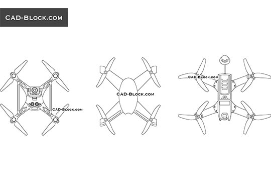 Quadcopter - download free CAD Block