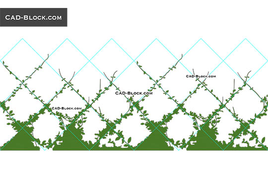 Climbing Plants - download free CAD Block