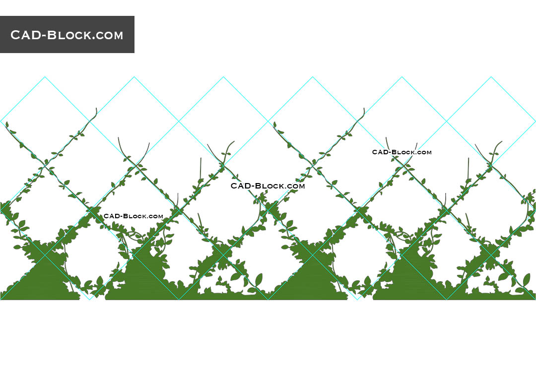 Climbing Plants AutoCAD Blocks, download free CAD file