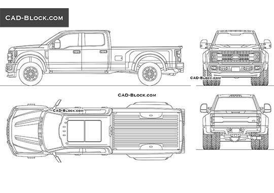 Ford F-450 Super Duty (2017) - free CAD file