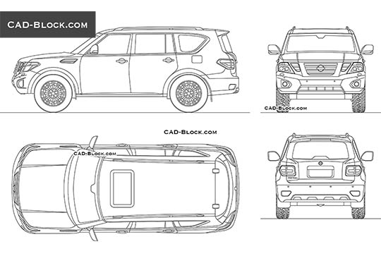 Nissan Patrol buy AutoCAD Blocks
