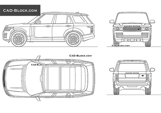 Range Rover Vogue buy AutoCAD Blocks