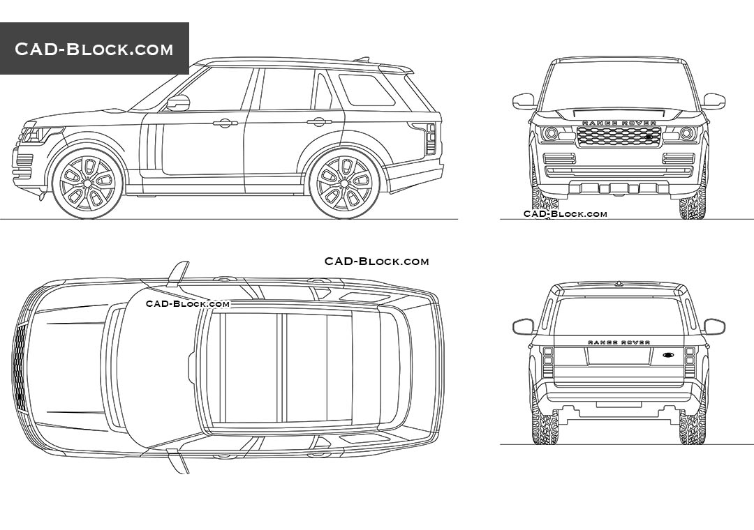 Range Rover Vogue - CAD Blocks, AutoCAD file