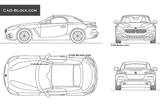 BMW Z4 (2019) - free CAD file