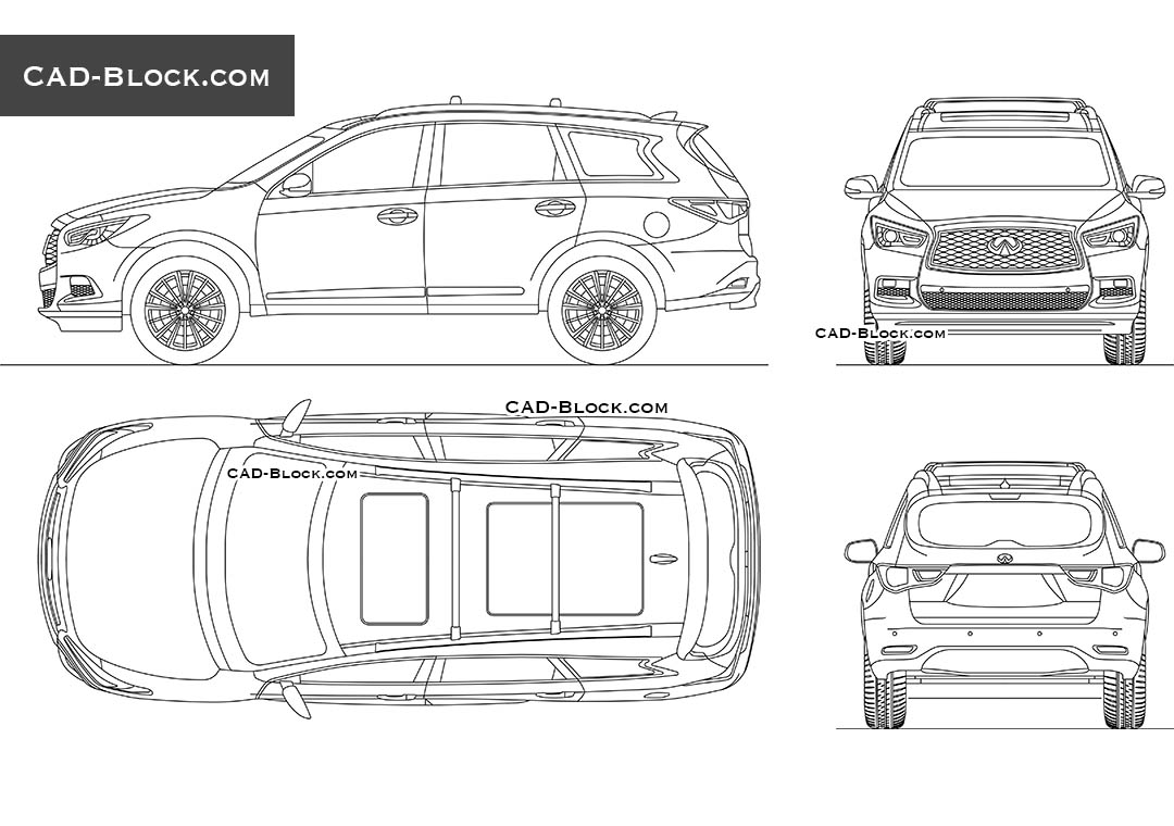 Infiniti QX60 - CAD Blocks, AutoCAD file