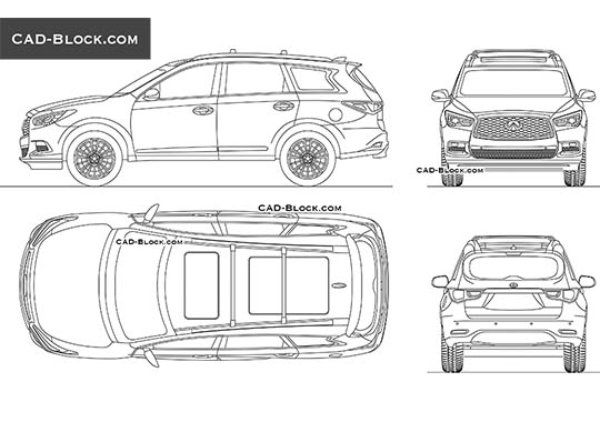 Infiniti QX60 buy AutoCAD Blocks